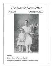 Hande Family Newsletter - Cover